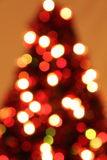 Blurred lit Christmas tree Stock Image