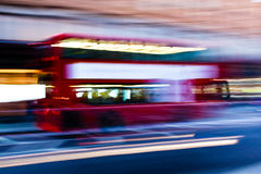Blurred London Bus Royalty Free Stock Photos