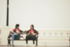 Blurred of love couple Stock Images