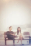 Blurred of love couple Royalty Free Stock Image