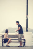 Blurred of love couple Royalty Free Stock Photography