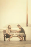 Blurred of love couple Royalty Free Stock Photo