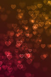 Blurred love heart sign defocused background Royalty Free Stock Photography