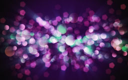 Blurred magenta sparkles Stock Photography
