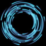 Blurred magic neon light. EPS 10 Stock Image