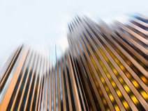 Blurred Manhattan architecture Royalty Free Stock Images