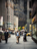 Blurred Manhattan street scene. Stock Photos