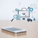 Blurred mobile phone Stock Images
