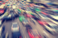 Blurred of modern city traffic flow Royalty Free Stock Photography