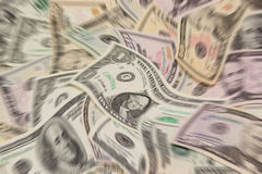 Blurred money background Royalty Free Stock Images