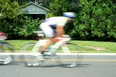 Blurred motion bicycle race Royalty Free Stock Photography