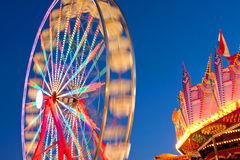 Blurred Motion Of Carnival Ferris Wheel Stock Images