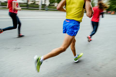 blurred motion group people runners Stock Photos