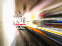 Blurred motion of High speed train Stock Image
