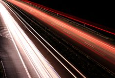 Blurred motion light trails Royalty Free Stock Photography