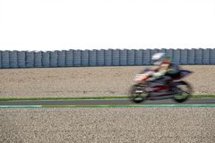 Free Blurred Motion Of Moborbike Competing In Racing Circuit And White Space Royalty Free Stock Photo - 133135685