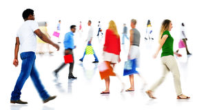 Blurred Motion of People Walking Royalty Free Stock Image