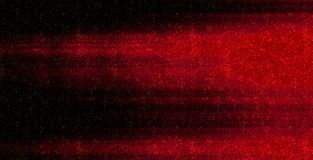 Blurred motion. Red horizontal neon glowing lines with paint particles isolated on black background vector illustration
