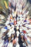 Blurred motion of 17th Marine Marathon, Washington, DC Royalty Free Stock Photo