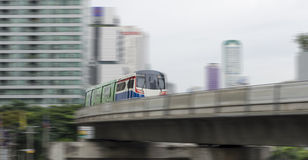 Blurred motion train Stock Photo