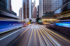 Free Blurred Motion Travel In Business District Stock Photography - 110628312