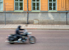 Blurred motorcycle Stock Photo