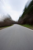 Blurred mountain road Stock Photos