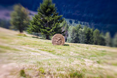 Blurred Mountain Sheaf. Lensbaby Shot Royalty Free Stock Images