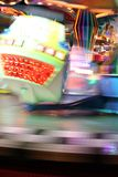 Blurred moving joy ride at carnival Royalty Free Stock Images