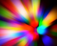 Blurred multi color lights Stock Photography