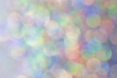 Blurred multi colored sparkles Stock Photo