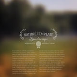 Blurred natire backgrounf, nature decor Royalty Free Stock Images