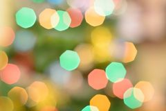 Blurred natural bokeh abstract background. Blurred natural abstract background with bokeh. Festive lights Royalty Free Stock Photography