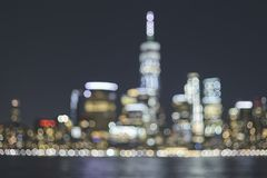 Blurred New York City skyline, USA royalty free stock images