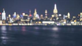 Blurred New York City skyline, USA stock photo