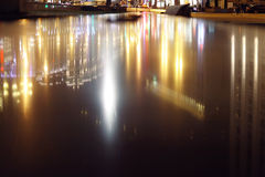 Blurred night background city lights Royalty Free Stock Image