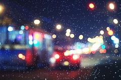 Blurred night background Stock Photography