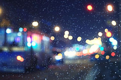 Blurred night background Royalty Free Stock Photos