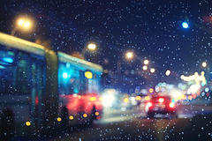 Blurred night background Royalty Free Stock Image