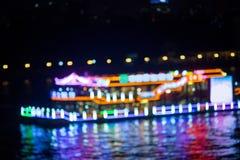 Blurred night cruise ship Stock Image