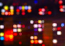 Blurred Night Lights Royalty Free Stock Photography