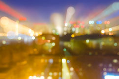 BLURRED NIGHT LIGHTS WITH BOKEH EFFECT Royalty Free Stock Photo