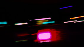 Blurred night lights stock video footage