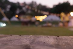 Blurred the night party with light And a small music stage. Concept adventure and sport outside Royalty Free Stock Image