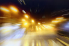 Blurred night streets of New York Royalty Free Stock Photos