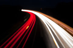Blurred Night time traffic lights, abstract Stock Photo