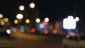 Blurred night traffic lights abstract background. Blurred night traffic lights abstract urban background stock video