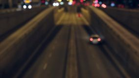 Blurred night traffic scene in Barcelona. Time Lapse stock video