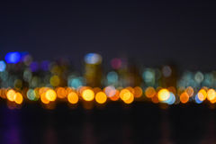 Blurred night view of Seoul city2 Royalty Free Stock Images