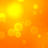 Blurred orange background with concentric outlines Royalty Free Stock Photography